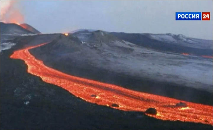 tourists flock to see spectacular eruption of sleeping
