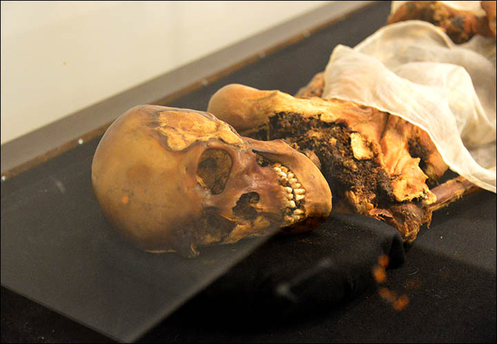 Tattoed 2,500 year old Siberian princess 'to be reburied to stop her posthumous anger which causes floods and earthquakes'
