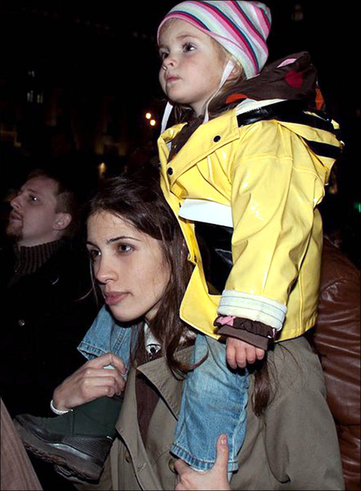 Nadezhda Tolokonnikova with daughter Gera, aged 4