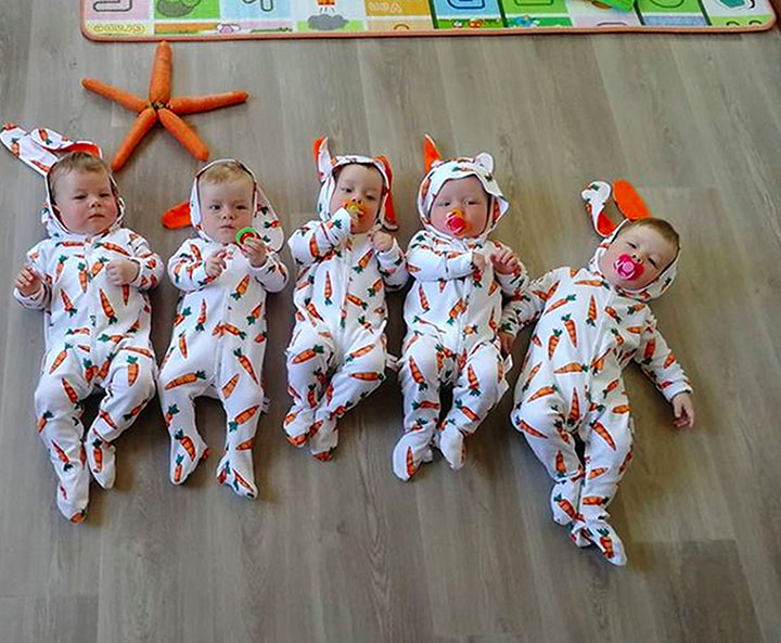 Quintuplets from Primorye