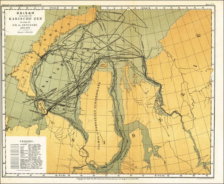 Yenisei River Map Where Thames meets Yen...