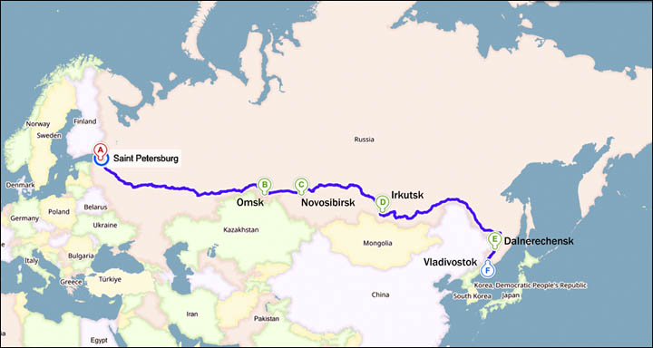 The man who walked all the way across Russia