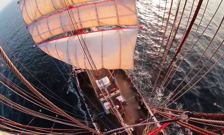 On top of the world: STS Sedov reaches port of Sabetta at tip of Yamal peninsula