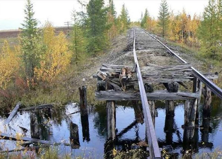 Monument to Stalin's folly: all that's left of the Railroad of Death where 300,000 prisoners perished