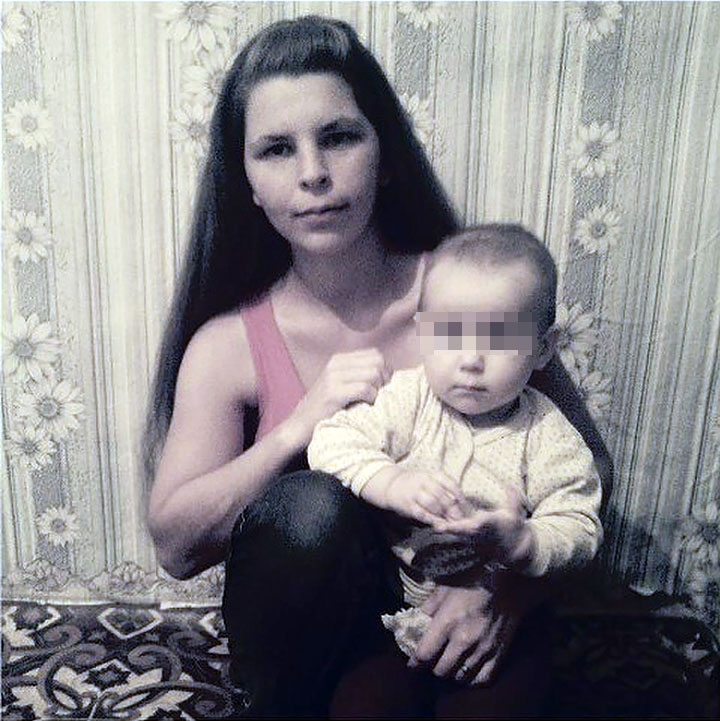 Bogdan with mother as toddler