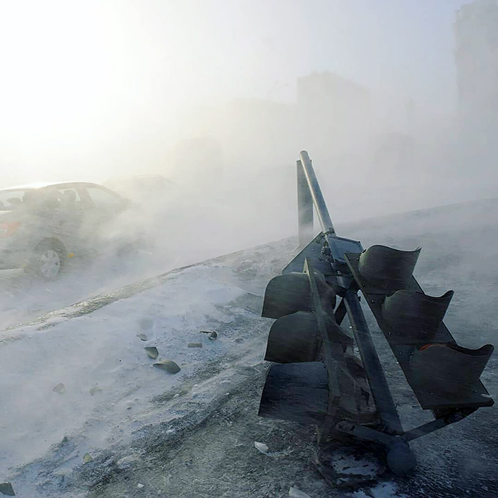 Snow in Norilsk