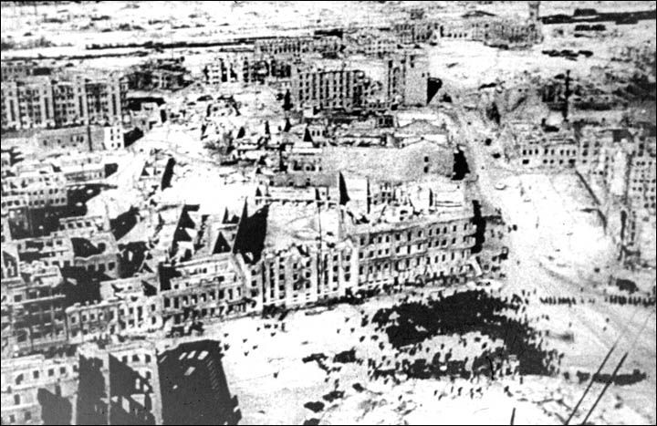 On the night of august 23 stalingrad was burning so badly that one