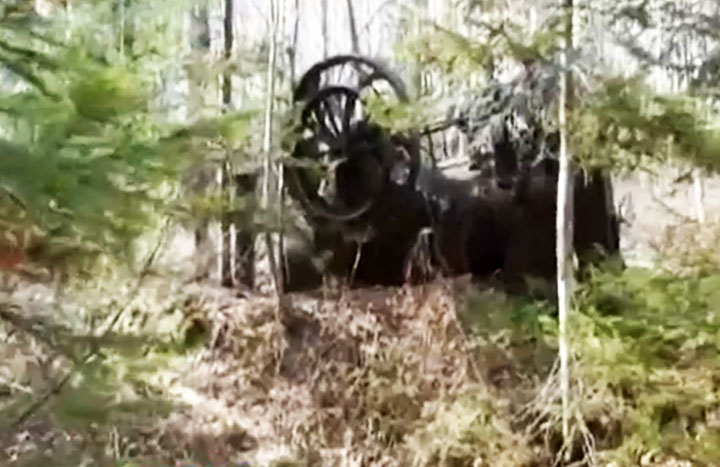 Unique 19th century English steam engine found in the depths of Siberian taiga