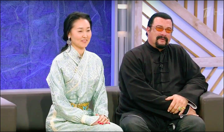 Steven Seagal and his wife