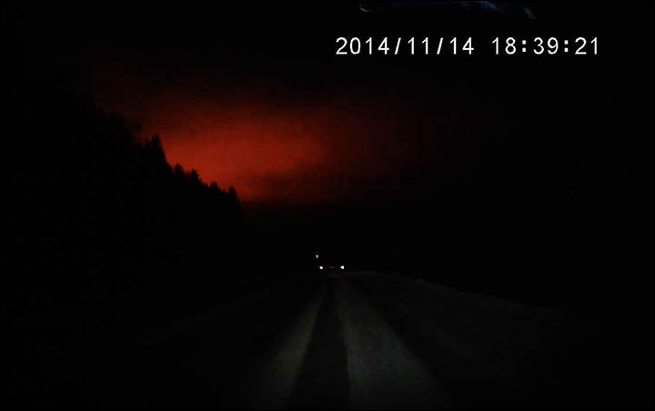 Amazing 'explosion' turns night to day in the Urals