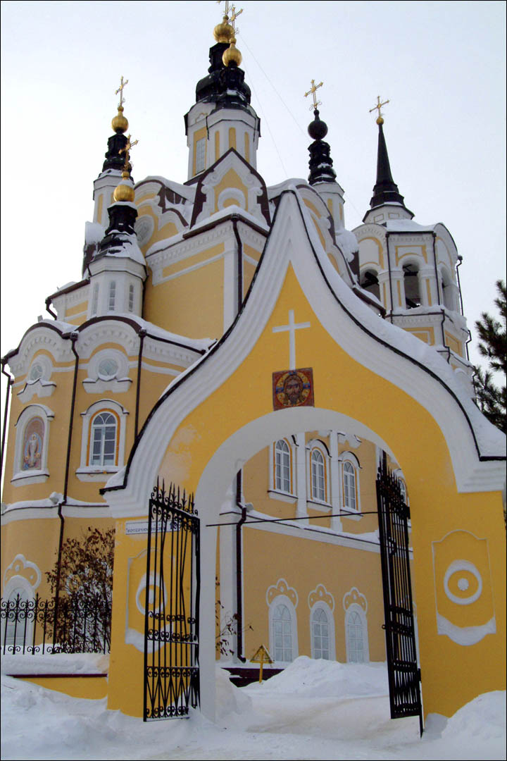 Tomsk church in winter
