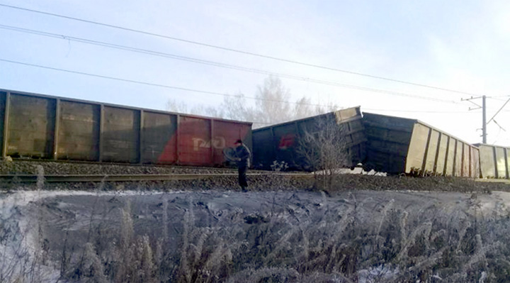 World's longest railway blocked by derailed cargo train
