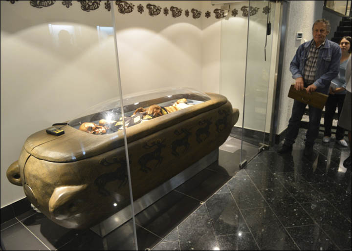 Ukok mummy exhibited