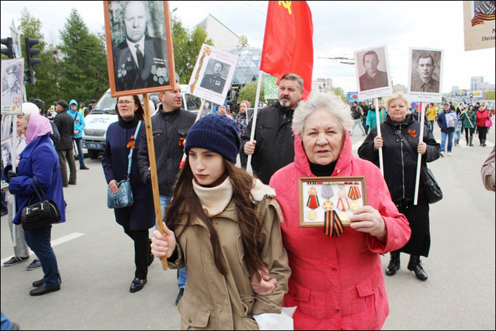 Immortal Regiment in Novosibirsk