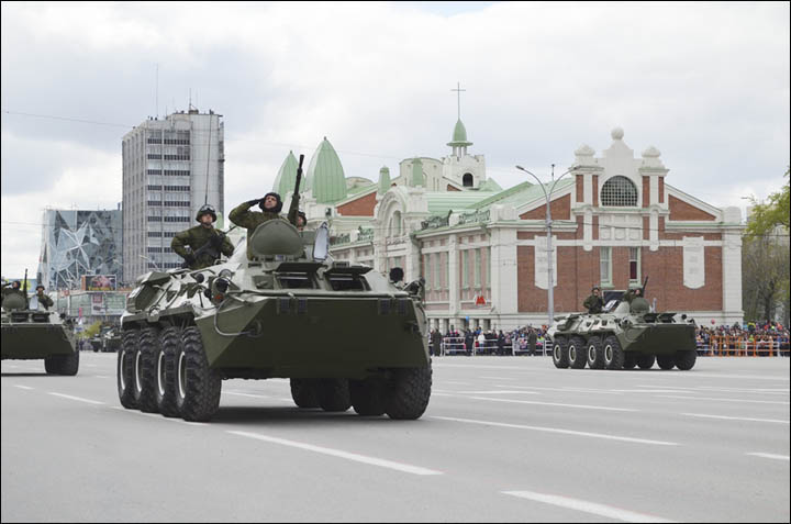 Victory Day Parade in Novosibirsk