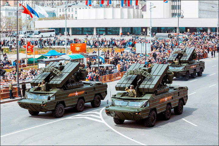 Victory Day parade in Vladivostok
