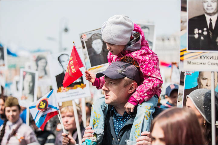 Immortal Regiment in Vladivostok