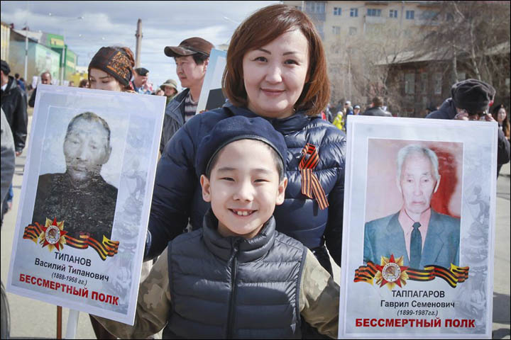 Immortal Regiment in Yakutsk