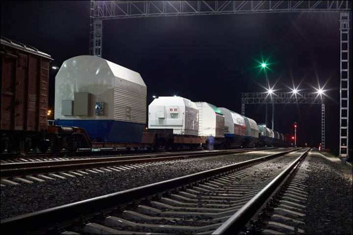 Soyuz arrived on Vostochny