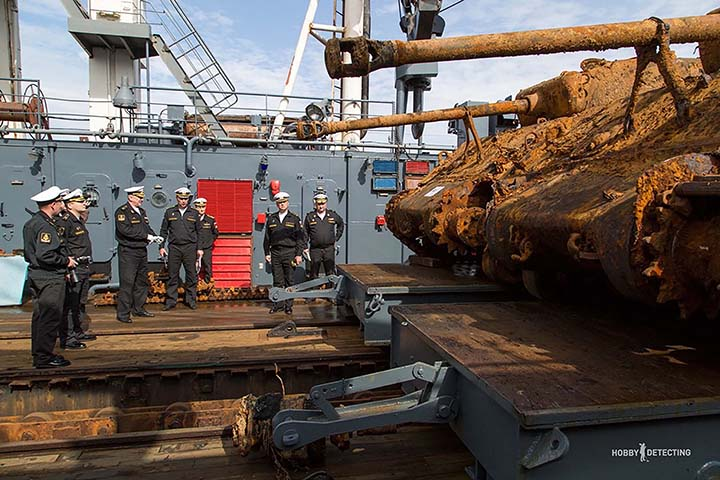 Sherman as lifted from Barents Sea