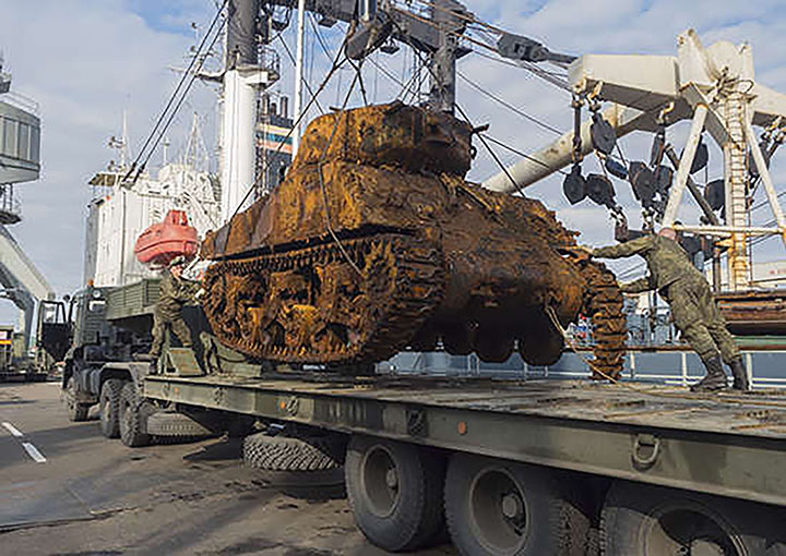 Sherman delivered to Vladivostok