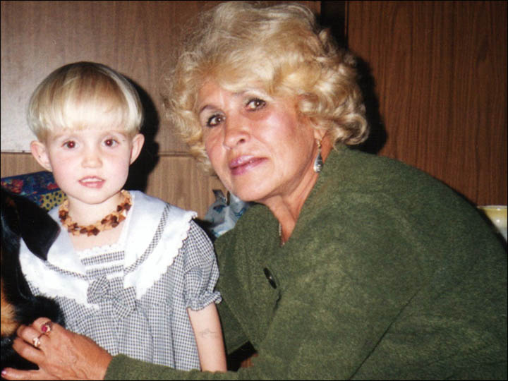 Wednesday murderer Mikhail Popkov victim's daughter Diana with her grandmother Lyubov