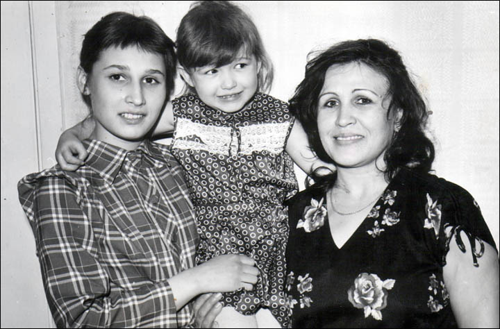 Wednesday murderer victim Tatiana with sister Victoria and mother Lyubov
