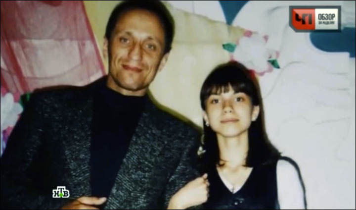 Mikhail Popkov with daughter