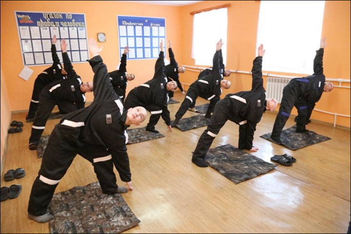yoga for prisoners Siberia