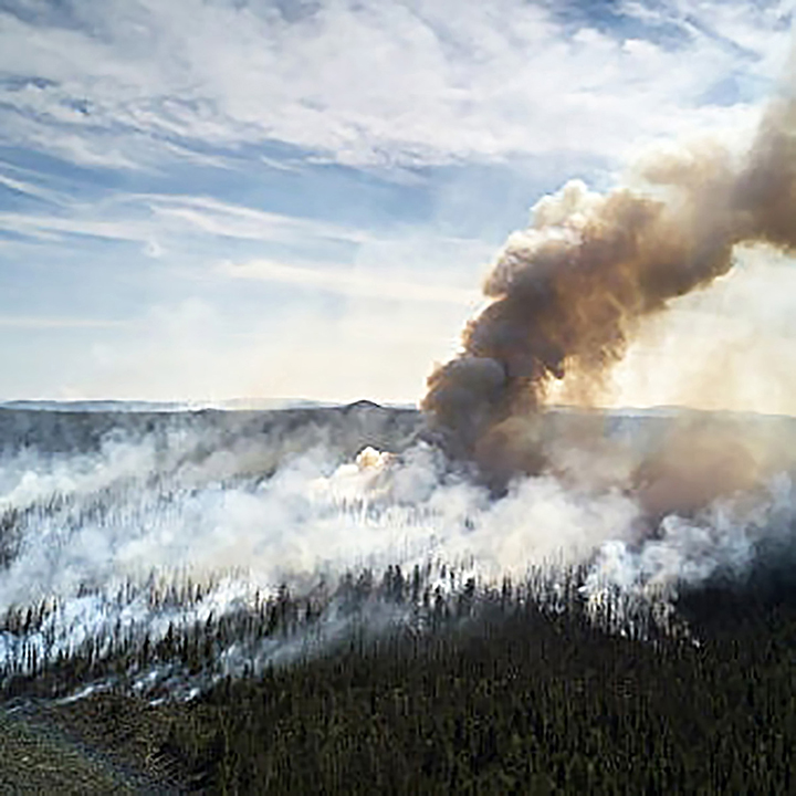 Peat fires continue to burn at air temperature of -50C in northeastern Yakutia