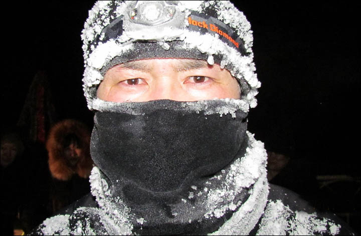 Siberian man runs coldest marathon in the world in minus 38C