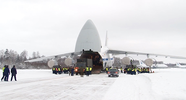 11 rail carriages packed with explosives, a giant An-124 Ruslan and four Il-76s - Operation 'Move a Mountain' begins