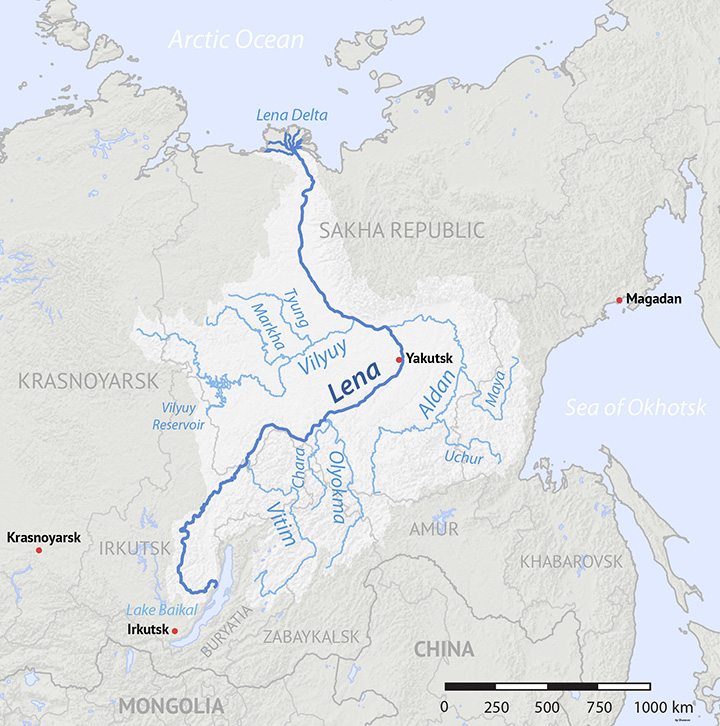 World's largest permafrost river dries to a record low