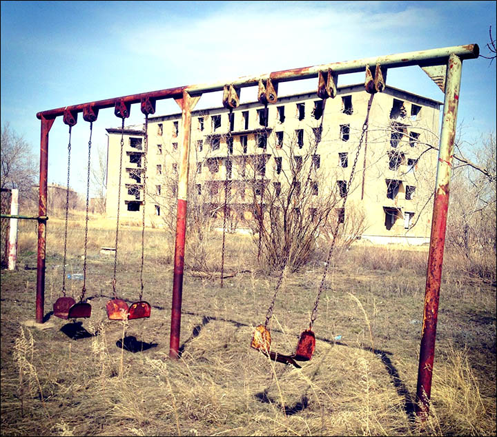 The shocking 'sleep epidemic' in a Kazakhstan maybe caused by a nearby disused  uranium plant, it is feared.