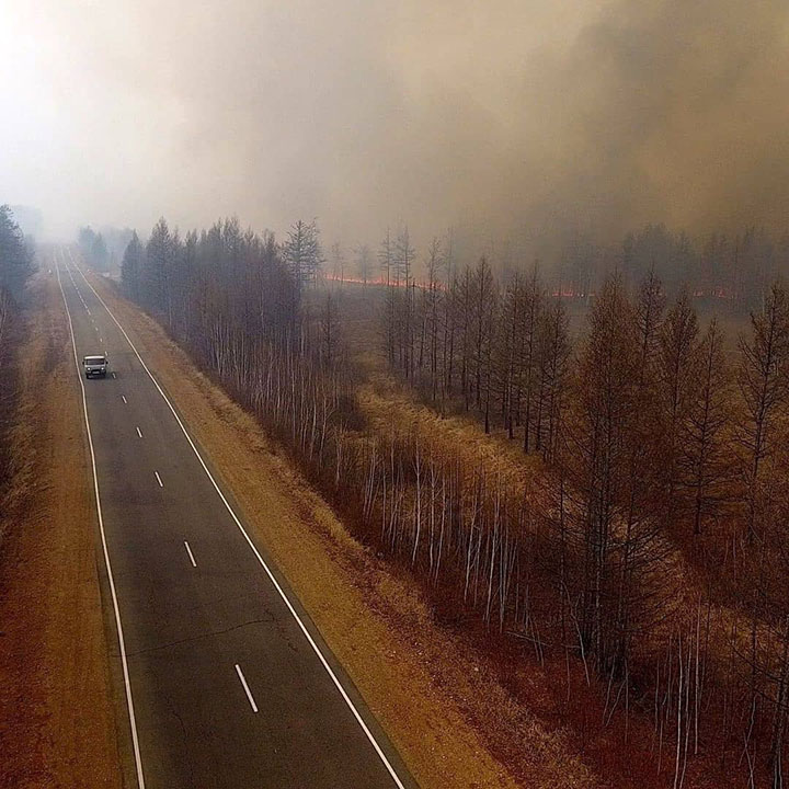 Wildfires add to coronavirus misery across nine Siberian regions and republics