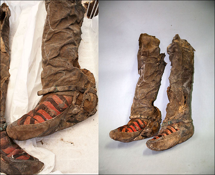 Ancient mummy with 1,100 year old Adidas boots died after she was struck on the headAncient mummy with 1,100 year old Adidas boots died after she was struck on the head