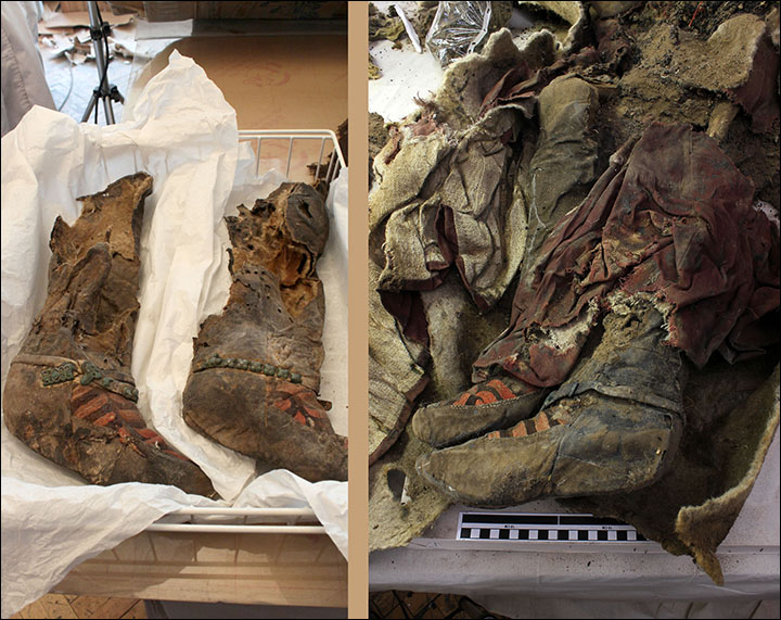 Ancient mummy with 1,100 year old Adidas boots died after she was struck on the head