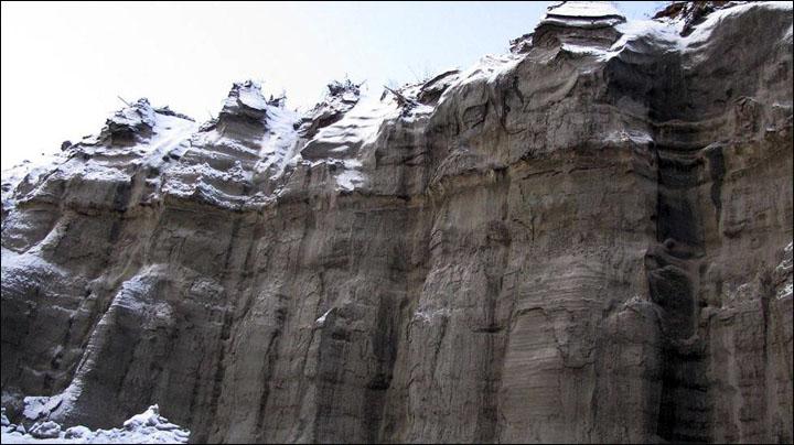 Batagaika walls