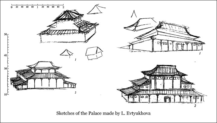 Four sketches of Evtyukhova