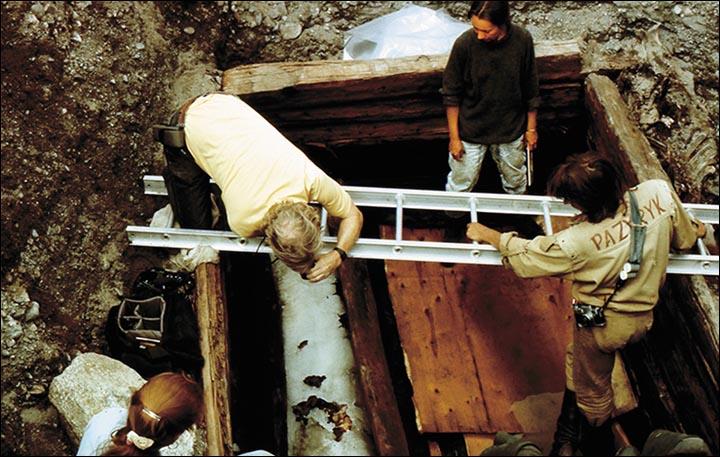 Ukok burial chamber
