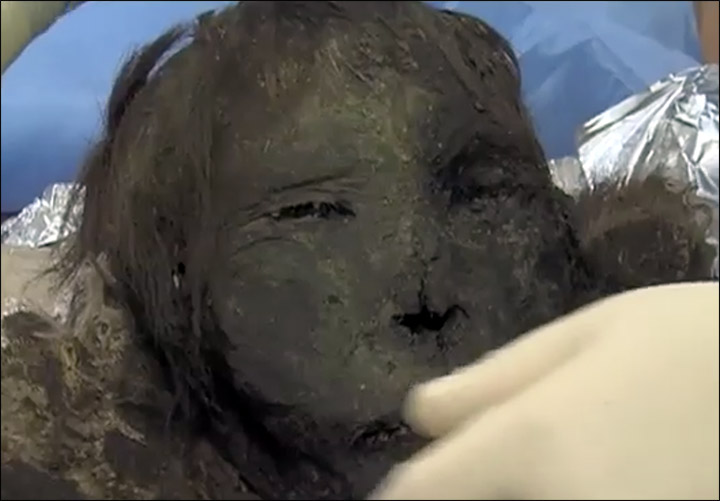 Meet the mummified Polar Princess, her long eyelashes and hair still intact after 900 years