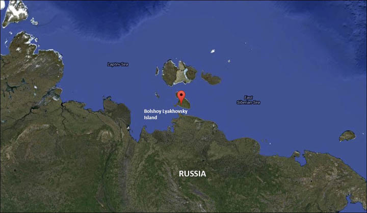 Bolshoy Lyakhovsky Island on the map