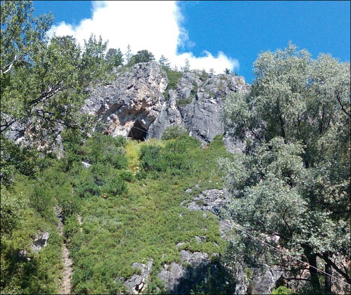 Fresh discoveries of ancient man's bone in Altai Mountains cave