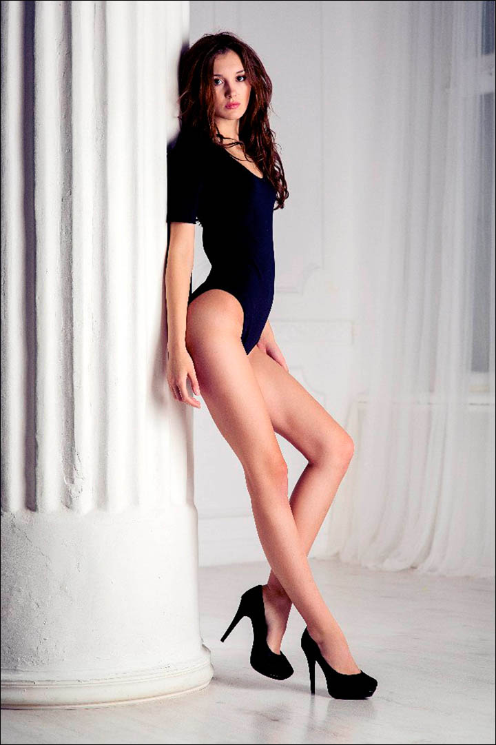 Made in Siberia - Siberian trainee lawyer voted 'Miss Longest Legs' in Russian beauty contest
