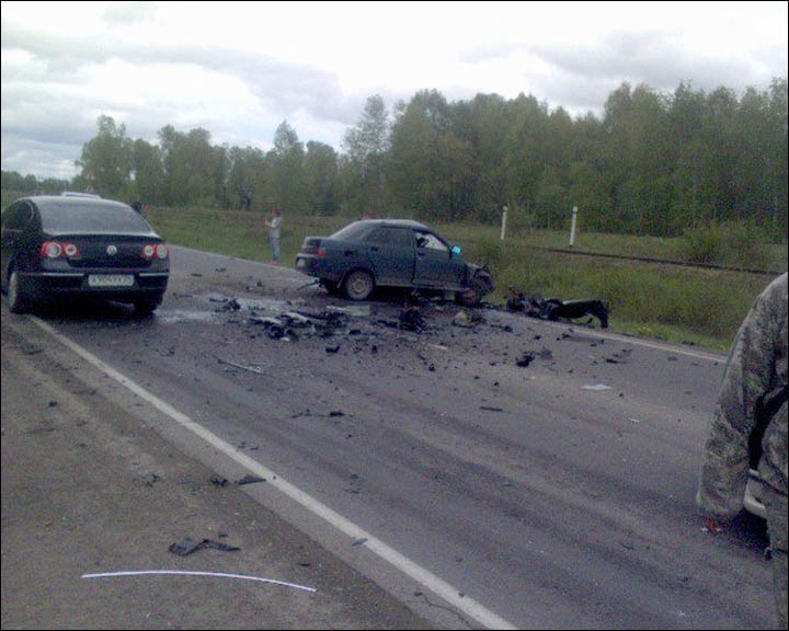 Car crash on the road to Zelenograd