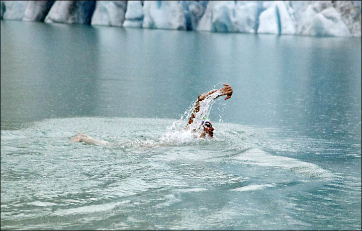 Ice swimming in Tyumen, Russia, by Ram Barkai
