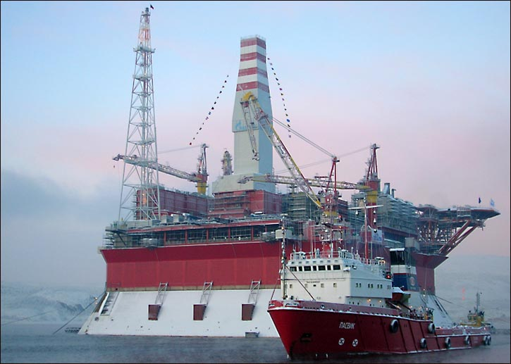 Prirazlomnaya Oil Platform, Pechora Sea
