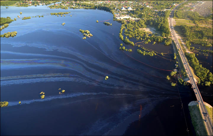 Russian Oil Spill Causes Large Scale Ecological Disaster