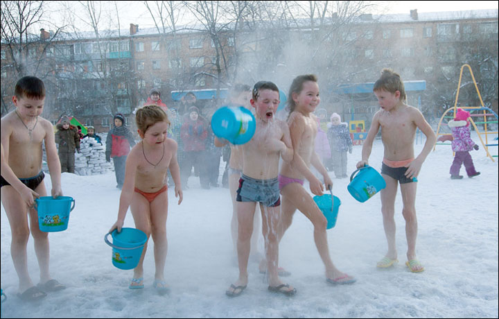 This is how little Siberians learn to love our trademark cold, and stay healthy 39