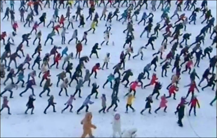 Even the Yeti go Gangnam Style with a Bigfoot dance in Siberia